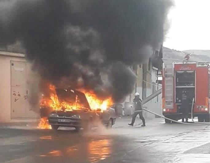 Nizip'te Otomobil Yangını