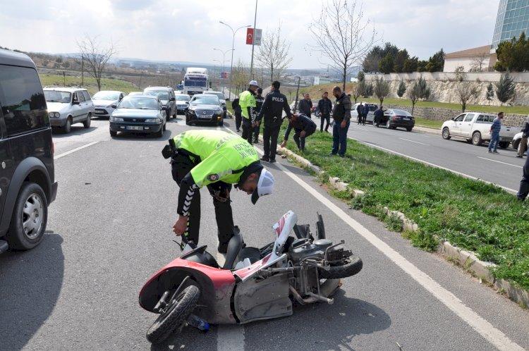 Nizip'te trafik kazası 1 yaralı