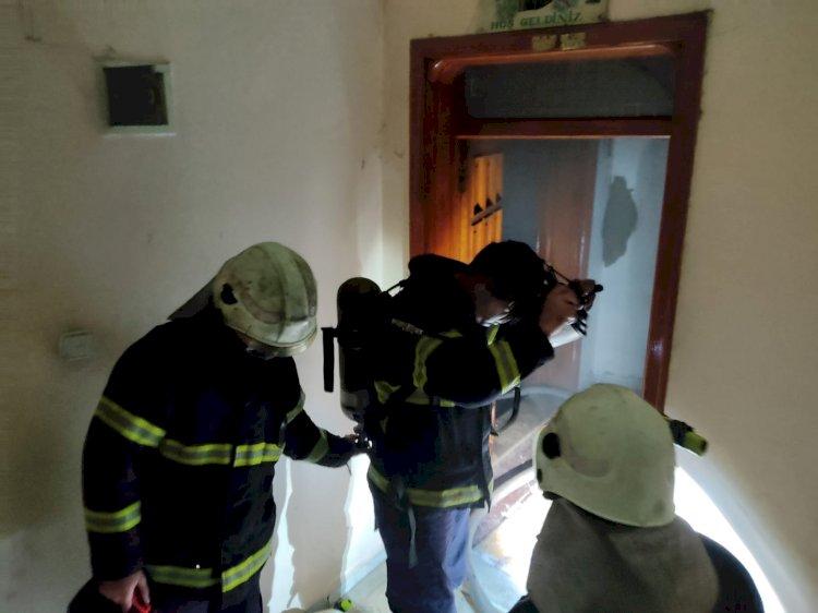 Nizip'te evde yangın