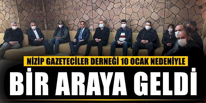 Nizip Gazeteciler Derneği '10 Ocak' Dolayısıyla Bir Araya Geldi