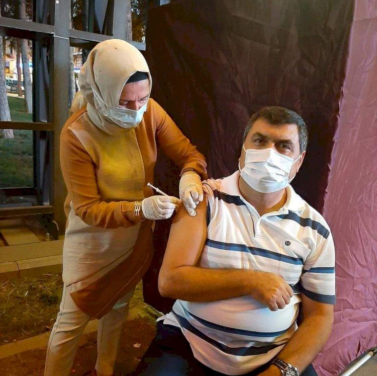 Kaymakam Şahin 4. Doz Aşısını Yaptırdı