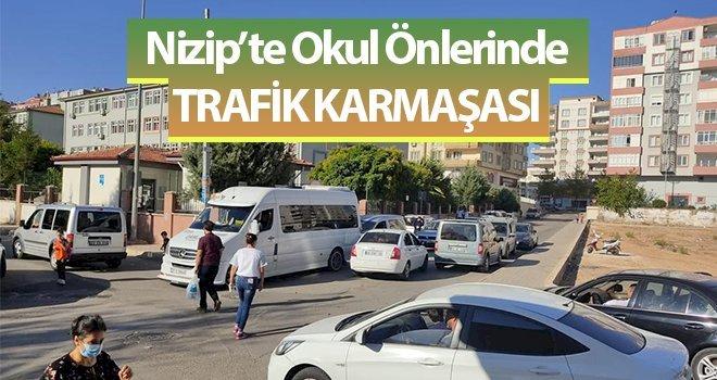 Nizip'te Okul Önlerinde Trafik Karmaşası