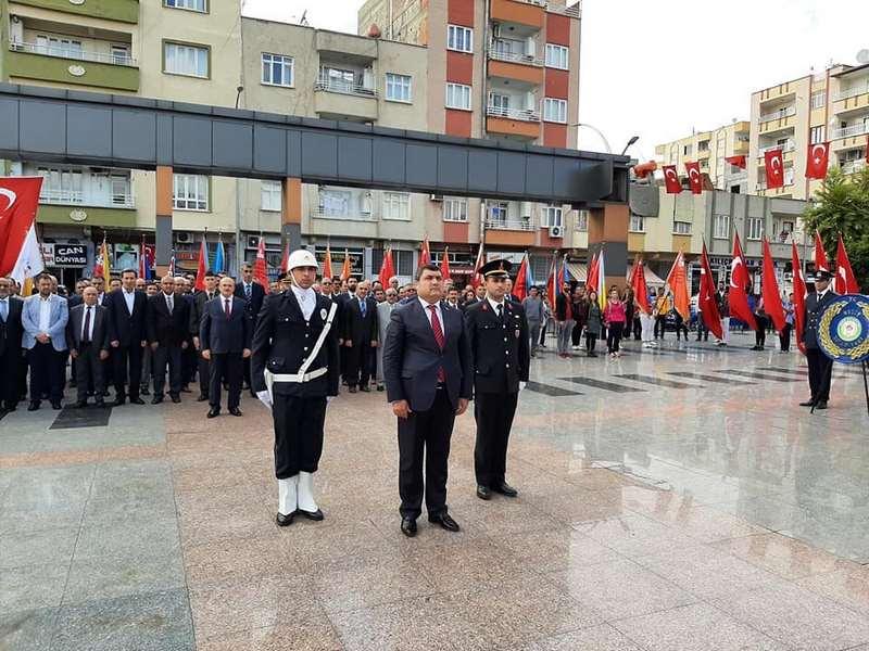 Nizip te 29 Ekim Cumhuriyet Bayramı Çelenk Töreni