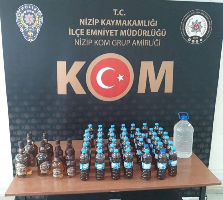 Nizip'te Sahte İçki Operasyonu